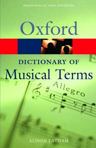 9780198606987 Oxford Dictionary of Musical Terms