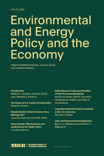 9780226711171 Environmental and Energy Policy and the Economy, Volume 1