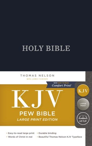 9780718095567 KJV, Pew Bible, Large Print, Hardcover, Blue, Red Letter Edition, Comfort Print