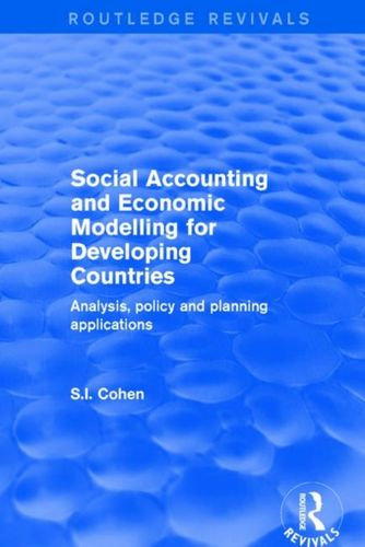 9781138719736 Social Accounting and Economic Modelling for Developing Countries