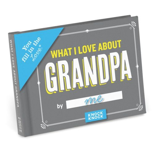 9781683490494 Knock Knock What I Love about Grandpa Fill in the Love Journal