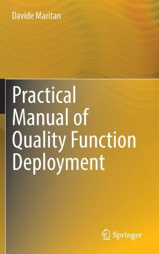 9783319085203 Practical Manual of Quality Function Deployment
