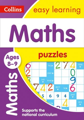 9780008266059 Maths Puzzles Ages 8-9