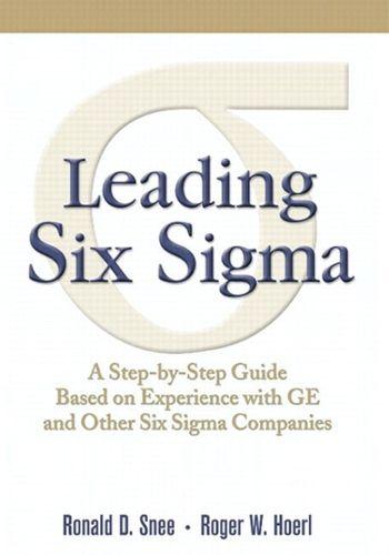 9780136117421 Leading Six Sigma