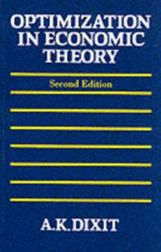 9780198772101 Optimization in Economic Theory