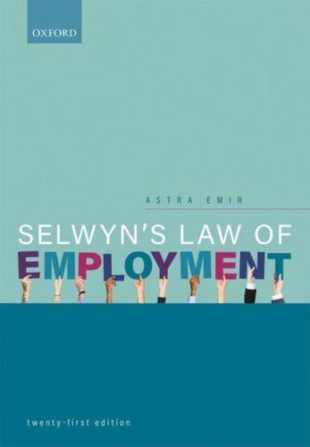 9780198836636 Selwyn's Law of Employment