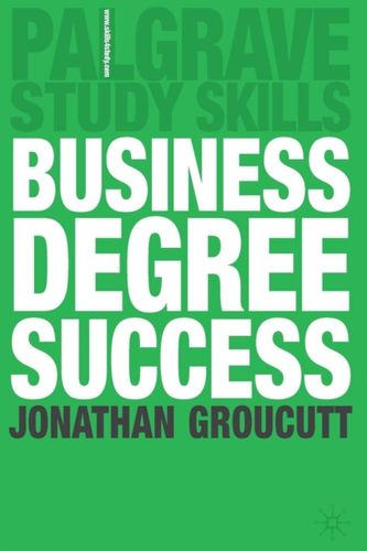 9780230506459 Business Degree Success