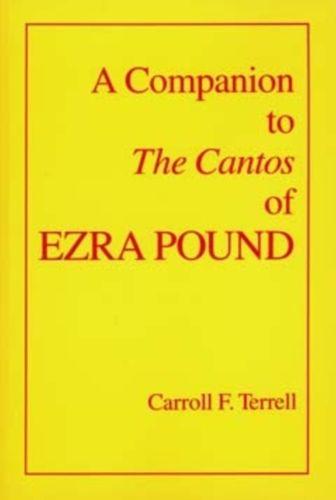 9780520082878 Companion to The Cantos of Ezra Pound