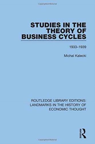 9781138219427 Studies in the Theory of Business Cycles