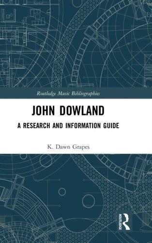 9781138298552 John Dowland