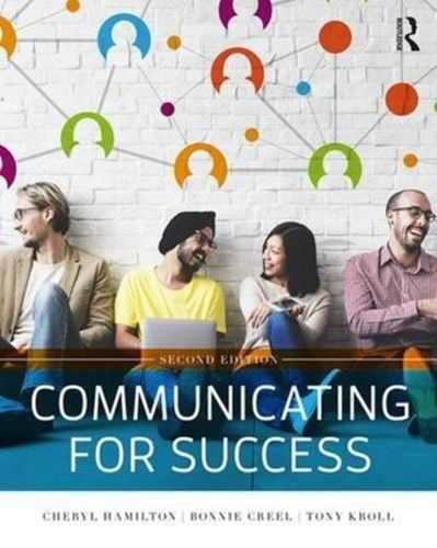9781138700963 Communicating for Success