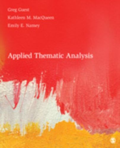 9781412971676 Applied Thematic Analysis
