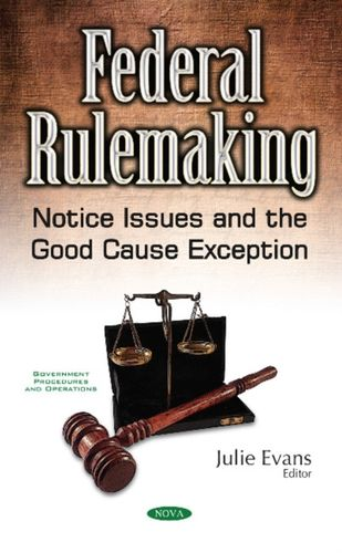 9781536105391 Federal Rulemaking