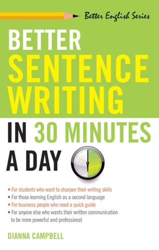 9781564142030 Better Sentence Writing in 30 Minutes a Day