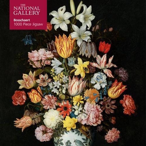 9781787558908 Adult Jigsaw Puzzle National Gallery Bosschaert the Elder: A Still Life of Flowers