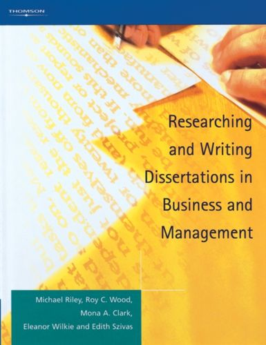 9781861526083 Researching and Writing Dissertations in Business and Management