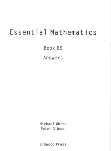 9781902214870 Essential Maths Book 8S Answers