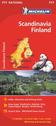 9782067170537 Scandinavia & Finland - Michelin National Map 711