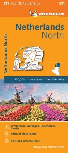9782067183377 Netherlands North - Michelin Regional Map 531