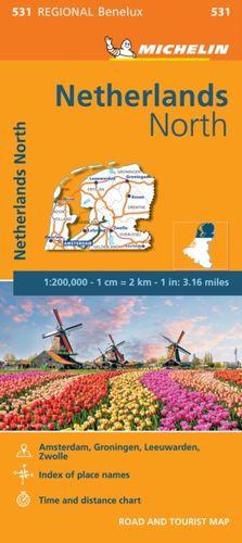 9782067183377 Netherlands North - Michelin Regional Map 531