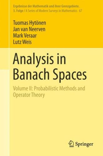 9783319698076 Analysis in Banach Spaces