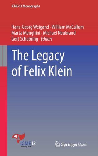 9783319993850 Legacy of Felix Klein