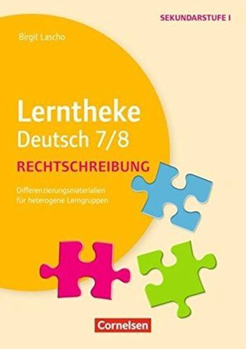 9783589153084 LERNTHEKE DEUTSCH 7 8 RECHTSCHREIBUNG