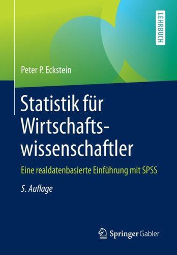 9783658102203 Statistik F r Wirtschaftswissenschaftler