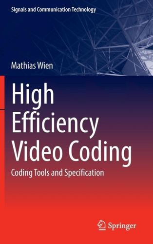 9783662442753 High Efficiency Video Coding