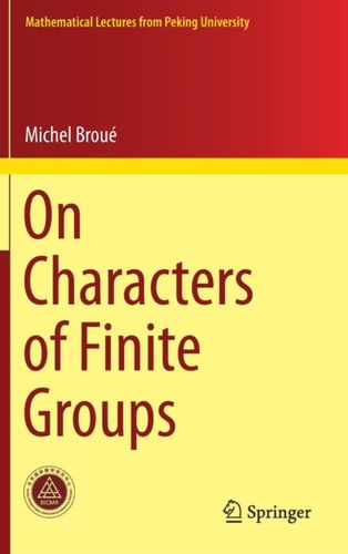 9789811068775 On Characters of Finite Groups